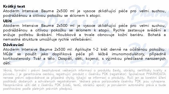 BIODERMA Atoderm Inte.Baume 500ml 1+1 výhodná cena