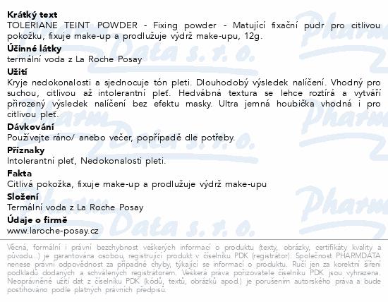 LA ROCHE-POSAY Tolereriane Teint Fixing Powder 12g