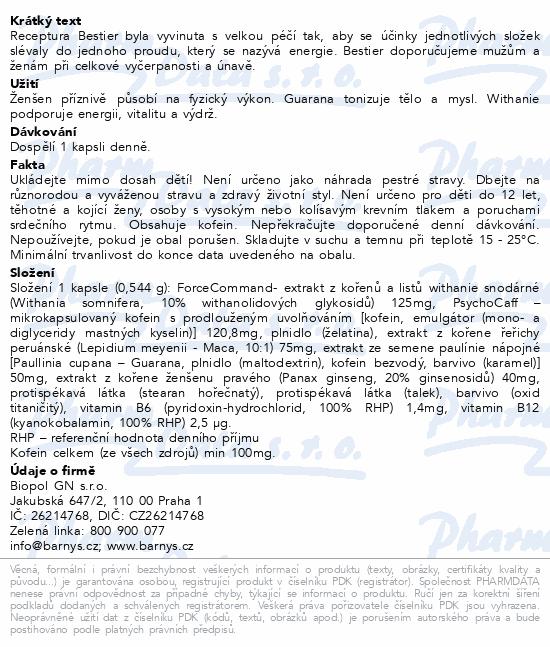 Barnys BESTIER cps.20+10 ZDARMA
