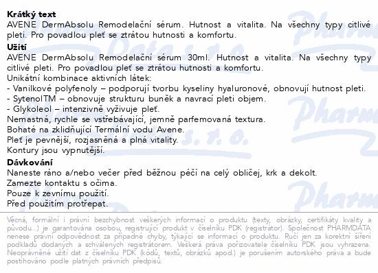 AVENE DermAbsolu remodelační sérum 30ml