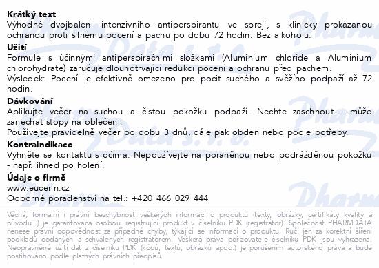EUCERIN DEO Intenzivní AP sprej DUOPACK2019 2x30ml