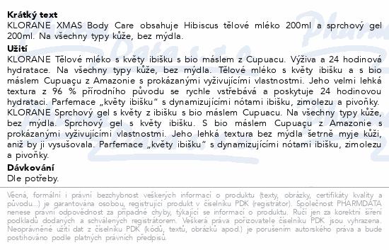 KLORANE XMAS BodyCare Hibiscus mléko200ml+gel200ml
