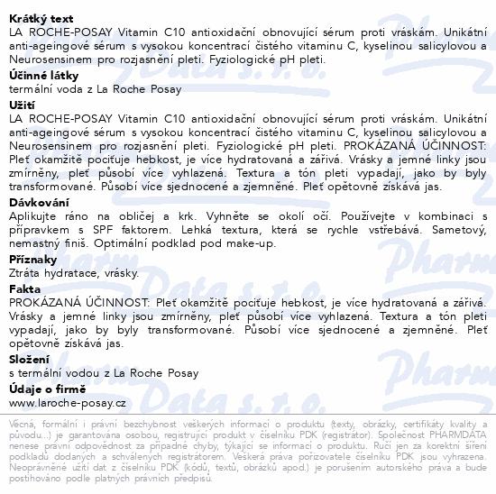 LA ROCHE-POSAY VITAMIN C10 sérum 30ml