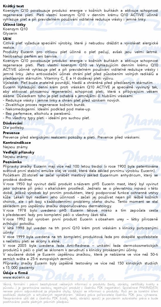 EUCERIN Q10 ACTIVE denní kr.pr.vráskám 50ml