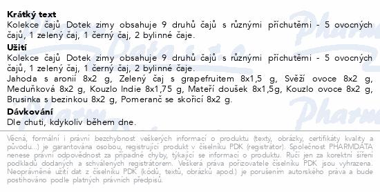 Megafyt Kolekce čajů Dotek zimy plech 9x8ks