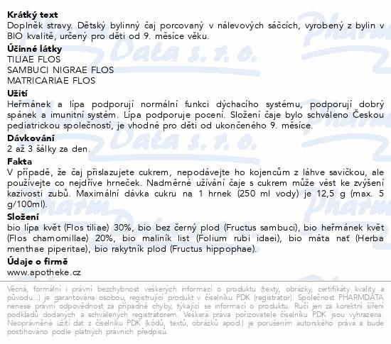 Apotheke Dětský BIO Dých.cesty(Nachlazení) 20x1.5g
