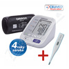 Tonometr dig.OMRON M3 Comfort + Lékařský teploměr